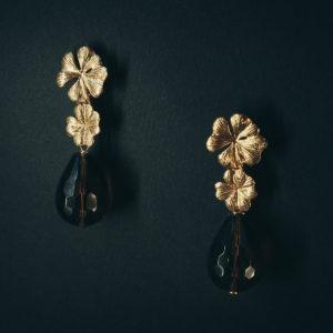 Pendientes Trébol cuarzo joyas de autor